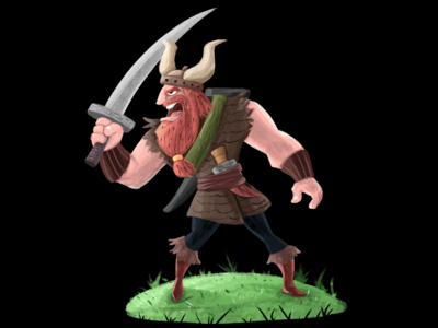 Viking character design