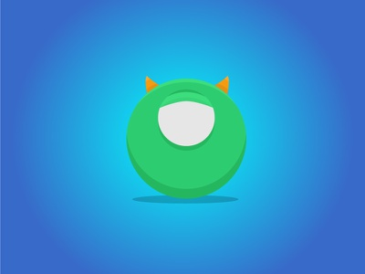 Monsters inc - Mike - Daily Disney monsters inc flat design disney daily disney daily