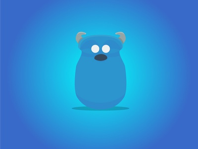 Monsters inc - Sully - Daily Disney monsters inc flat design disney daily disney daily