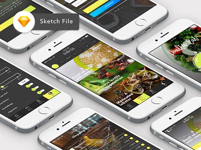 Free Food App Template food app app food freebie template