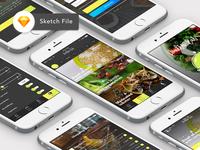 Free Food App Template