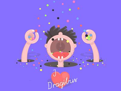 🍭 Dragibus foodporn illustration 🍬 flat design illustrator illustration candy dragibus