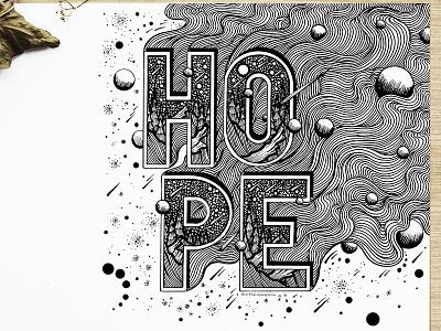 Hope handlettering typography