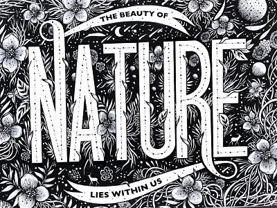 Nature galaxy night flower graphic  design logo handlettering lettering typogaphy nature handamde pen  ink drawing ink illistration