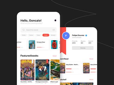 Reado - A social app for reading books. mobile app design ux ui
