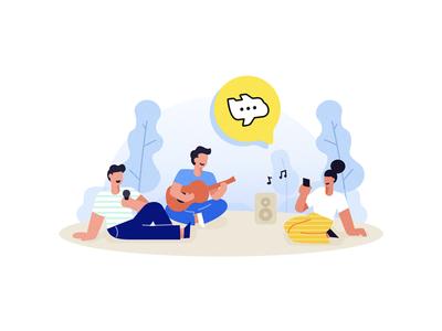 Flipchat download illustration