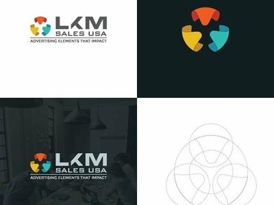 LKM Sales USA vector app web designfast dribbble typography illustration design icon ui color newlogo branding chennailogodesigner logodesigner logodesign newlogodesign designf1 creativelogo logo
