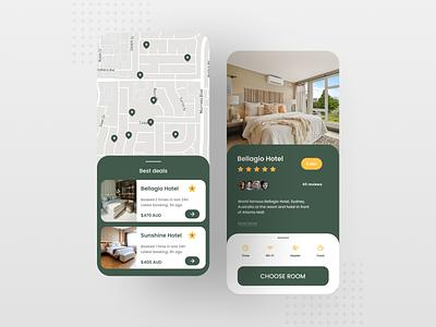 Hotel Booking App - 2 ui ux mobile app minimal design app design app