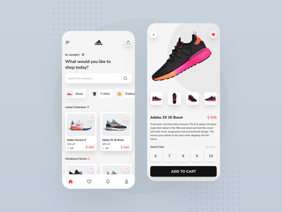 Adidas Shopping Mobile App mobile uiux mobile app design dribbble best shot dribbble ecommerce app ecommerce adidas ux ui mobile app minimal design app design app
