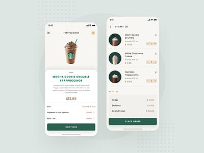 Starbucks Mobile App dribbble best shot dribbble mobile typography branding starbucks ux ui mobile app minimal design app design app