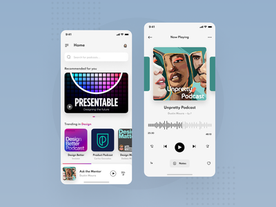 Podcast Mobile App Design freelance designer podcast app podcast freelancer freelance mobile dribbble best shot dribbble ux ui mobile app minimal design app design app