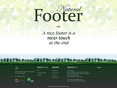 Natural Footer natural nature web design white green footer