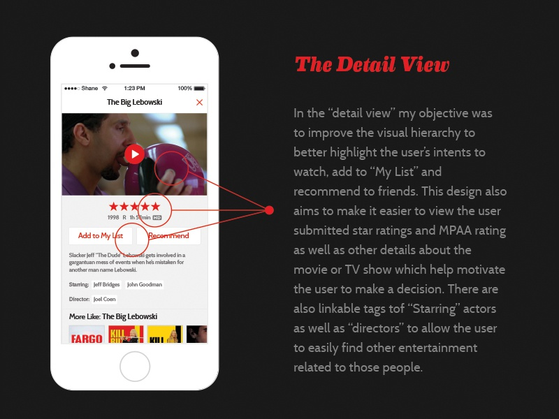 Netflix Search Detail View by Shane Guymon on Dribbble