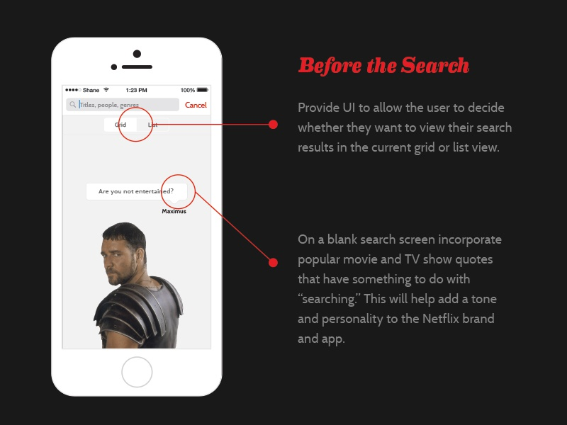 Netflix Search Before The Search by Shane Guymon | Dribbble | Dribbble