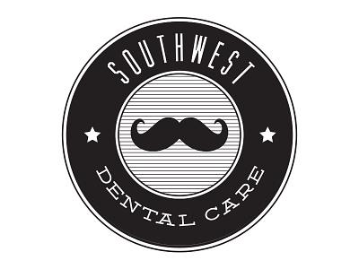 Southwest Dental Care logo mustache dentist