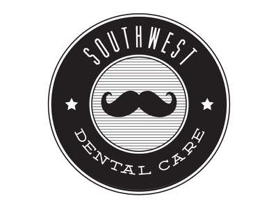 Southwest Dental Care logo mustache dentist
