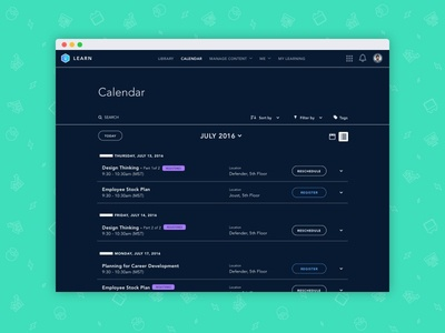 Agenda View in High Contrast Mode dark ui accessibility a11y high contrast