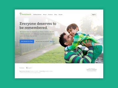 Familysearch Onboarding Home Page account creation registration onboarding
