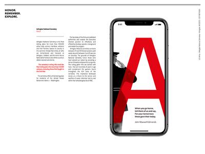 Arlington National Cemetery uiux mobile ux ui creative cemetery america iphonex app presentation designconcept concept