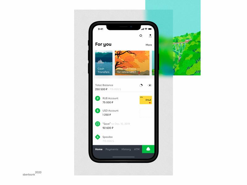 Voice Assistant Banking money green design card credit voice iphonex ui ux mobile uiux designconcept concept app alisa sberbank bank