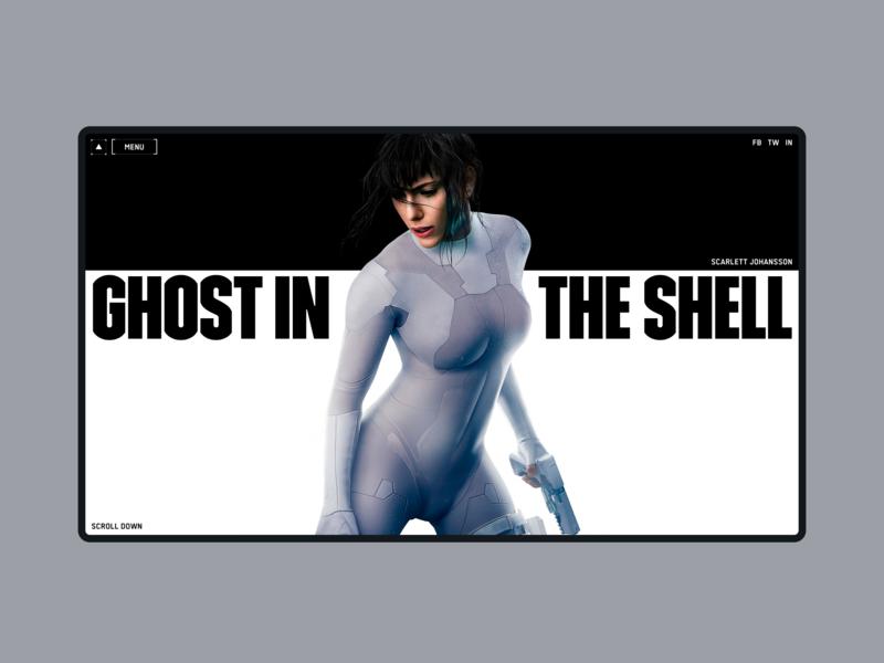 Ghost in the Shell 1920 desctop web scarlett johansson manga ghost in the shell creative designconcept concept ux ui