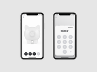 Rocket Home Pig. Home and Replenish rocketbank rocket home pig piggybank bank amount replenish money iphonex appdesign mobile design uiux app ux ui