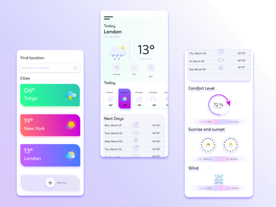 WEATHER APP UI DESIGN xd design adobe xd design ui ux design leraner weather ui templates mobile app ui design design weather icon design template ui weather app ui  ux design