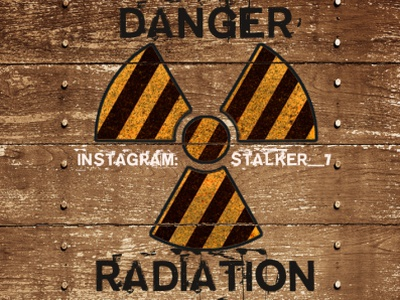 sticker for  Chernobyl exclusion zone old wood instagram adobe photoshop danger radiation sticker