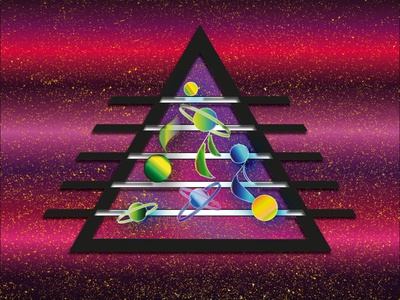 Music is a space of feelings.Triangl planets space notes music adobe illustrator adobe photoshop triangle