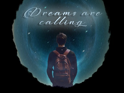 Dreams are calling art design poster poster art sky stars circle dreams space adobe photoshop