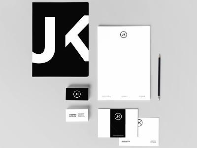 Jennifer Kutzleb Identity typography type purple teal business card symbol identity icon color mark logo branding