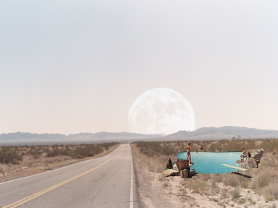 Desert Moon Collage experimental designs collage maker collages collage art collage