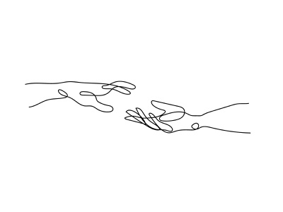 Hands no. 1 Illustration contour unbroken minimal line drawing hands vector vector illustration single line illustration continuous line