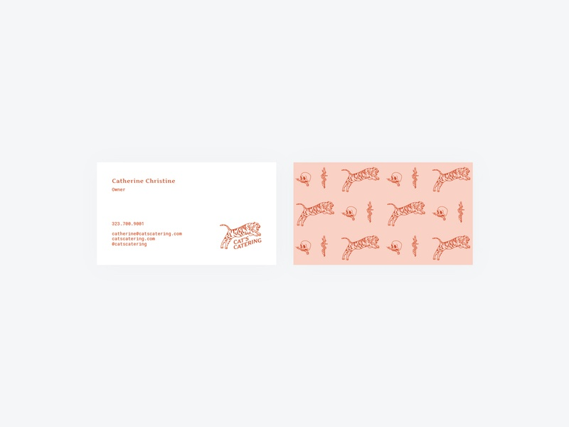 Business Cards card identity illustration catering food business cards brand identity logo design branding design