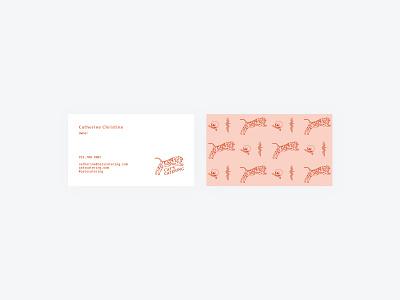 Business Cards card identity illustration catering food business cards brand identity logo design branding design