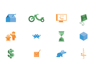 Child Care Survey Icons children icons vector