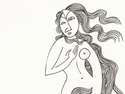 Botticelli's The birth of Venus botticelli venus micron ink