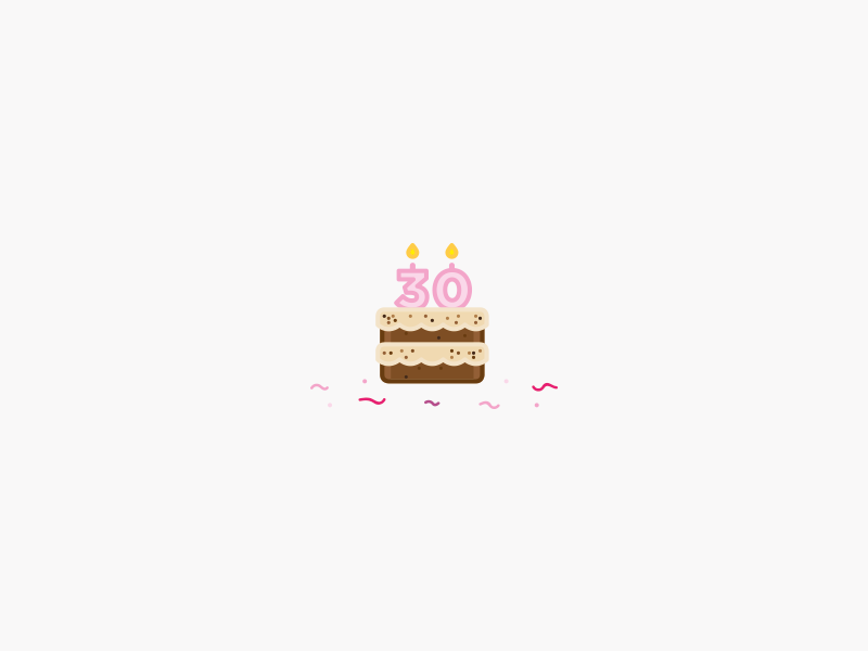 Pleasant 30Th Birthday Cake By Danielle Self On Dribbble Personalised Birthday Cards Epsylily Jamesorg