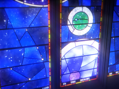 The Spirit of Apollo illustration after effects animation gif loop smithsonian nasa cathedral stained glass glass apollo window space