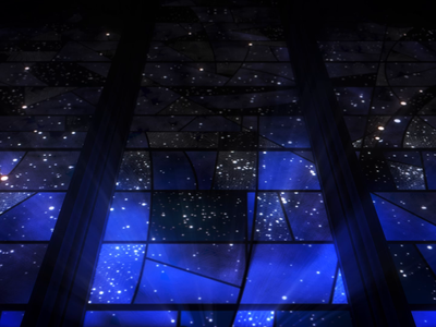 Spirit of Apollo 2 smithsonian stained glass cathedral animated 3d flat gif animation c4d loop