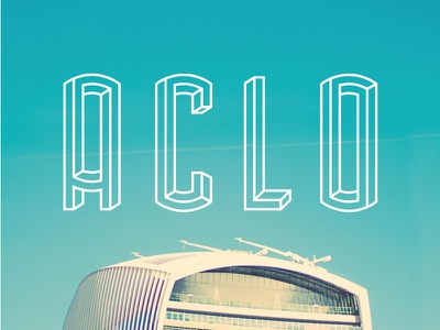 Aclo - font logo arched escher crazy condensed tall geometric display poster illusion modern font