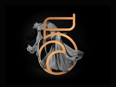 No.5 - Quira Font wave curly gold geometric modern monogram beautiful arabian 5 five font number