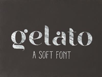 Gelato - soft font letters dots fresh icecream modern type logotype chalk friendly free font soft gelato