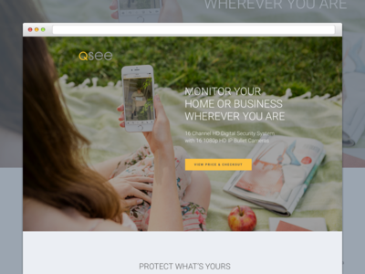 Q See Shot ux ui website web responsive layout page landing homepage graphic design bootstrap