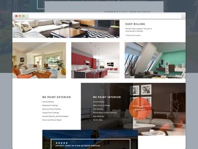 Shift Painting Landing Page ppc conversion construction improvement paint home web page layout landing design bootstrap