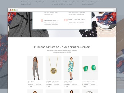 Le Tote - Pricing LP web ux ui product page layout landing ecommerce design graphic fashion beauty
