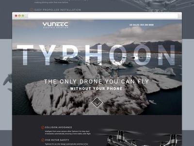 TYPHOON DRONE web ux ui tech product sport layout landing ecommerce design graphic drone