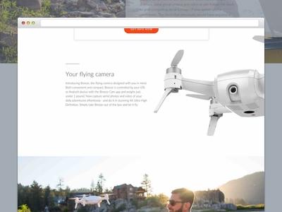 Yuneec - Breeze drone drone web ux ui tech product layout design graphic ppc landing page