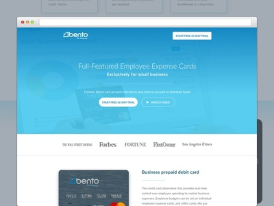 Bento for Business Landing Page website web credit money ux ui banking product layout landing page design graphic