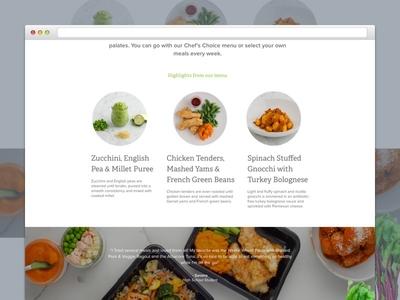 NurtureLife Landing Page website design website design nature landing layout delivery food health ui ux web